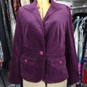 Talbots Petites Cotton/Lycra Velvety Blazer